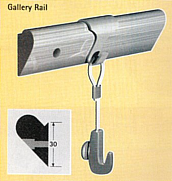 gallery rail hout max. 20 kg p/m p/st 9.7120